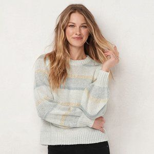 NEW LC Ivory Gray Embellished Sweater